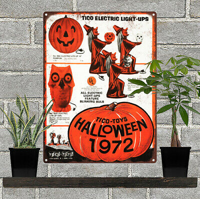 """Old Witch Sparkler Halloween Man Cave Metal Sign 7x12/"""" 60603"""