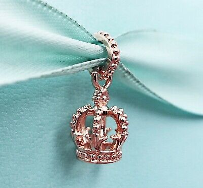5 Crown Charms Rose Gold Tone 3D Details So Pretty GC1189