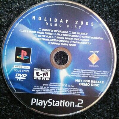 HOLIDAY 2004 DEMO Disc Not for Resale NFR Sony Ps2