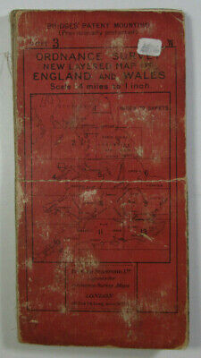 1921 Old OS Ordnance Survey Third Edition Quarter-Inch Map 3 England North East