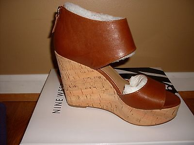 ab70afd927e NEW Nine West Women s Caswell Suede Wedge Sandal sz 7.5