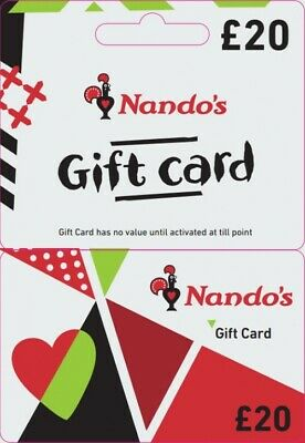 Nando's £20 Gift cards Available at £17.00 3 Available
