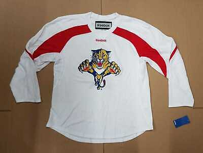 ea7f607eb7b Reebok Florida Panthers Edge Practice Jersey White Red Men's Size X-Large  New