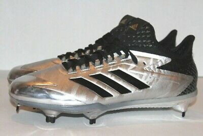 88579e37706 Adidas Adizero Afterburner 4 Black Silver Men s Baseball Metal Cleats -  Size 12
