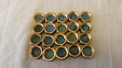 "1/2"" Brass Female Cap Ends - To Seal I/2"" Bsp Male Pipe - 65 For Sale"