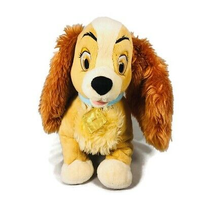 "Disney Store Exclusive Lady from Lady and The Tramp 14"" Stuffed Plush Toy"