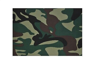 Green 100% Cotton Drill Army Military Camouflage Fabric.