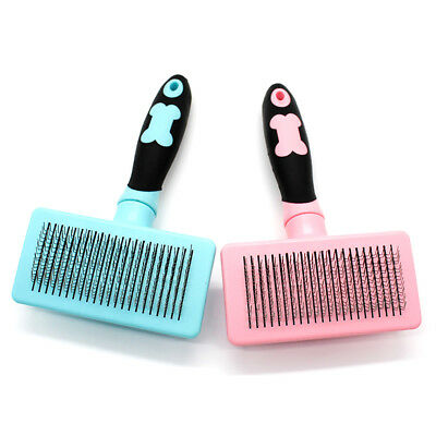 KF_ Handle Shedding Pet Dog Cat Hair Brush Pin Fur Grooming Trimmer Comb Tool