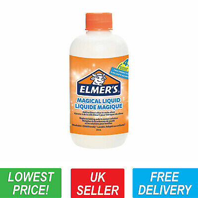 Elmers Magical Liquid 259ml Slime Activator - Replaces Borax & Lens Solution