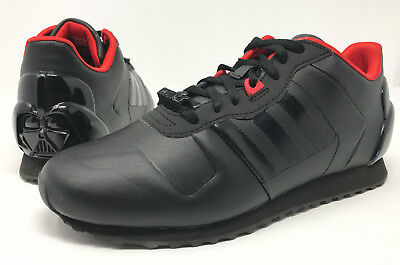 7014f0f81c6dca Men s Adidas 2014 Star Wars Darth Vader Black Red Shoes Sneakers Size 6.5