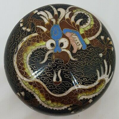 Attractive Antique Chinese Cloisonne Dragon Box