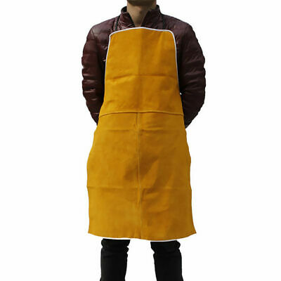 GN- Orange Welder Apron Blacksmiths Welding Protective Flame Resistant Bib Work
