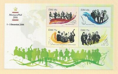 IRELAND - 1694d - S/S - MNH - 2006 - IRISH MUSIC GROUPS - MONACO PHIL '06