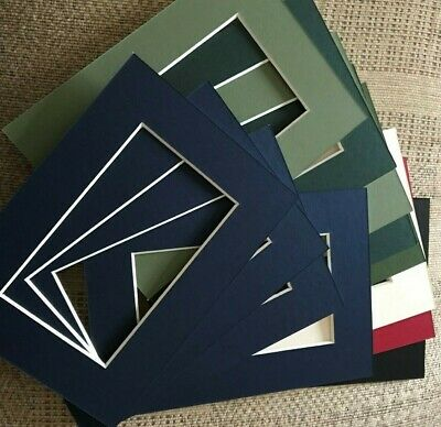 Pack of 12 Picture Frame Mounts 5 x 7 inch for 5 x 3 Photograph Assorted Colours