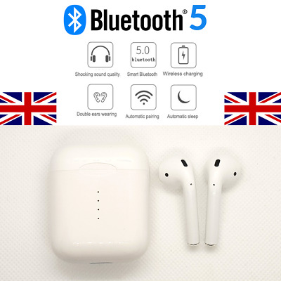 i10 TWS Bluetooth 5 Wireless Earphones Earbuds Earpods - UK Stock + 1yr Warranty
