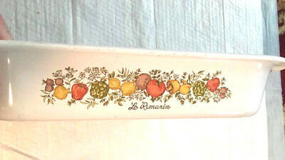 """Corning Ware Correll 'A Spice Of Life' Casserole Open Roaster 2.5"""" High A-21"""