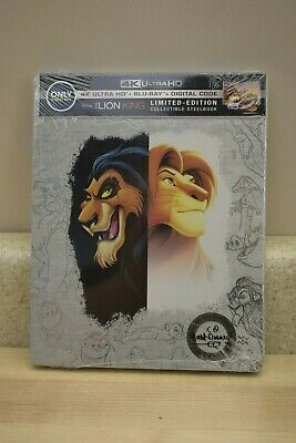 Disney The Lion King Steelbook 4K Uhd Blu-Ray Digital New Fast Ship