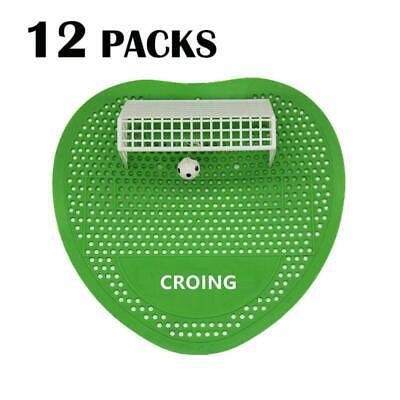 CROING Urinal Screen and Deodorizer - 12 Packs - 30 Days Fragrance - Soccer Styl
