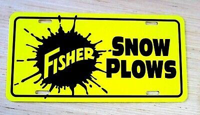 FISHER Snow Plows license plate tag Snowplow Truck snow plow plowing equipment
