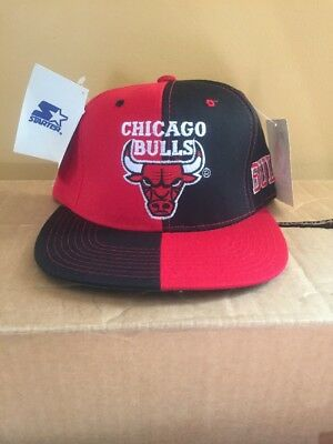 419d64c557a VINTAGE CHICAGO BULLS Starter Snapback Hat Cap NEW WITH TAGS NBA ...