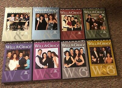 Will and Grace 1-8 The Complete TV Series Set seasons 1 2 3 4 5 6 7 8 DVD lot