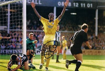 Signed Chris Whyte Leeds United Autograph Photo 1992 1st Division Winner 2
