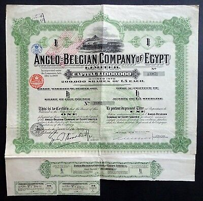 1923 Anglo-Belgian Company of Egypt