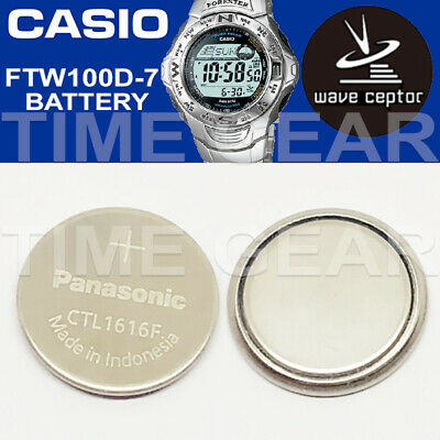 Casio Wave Ceptor Ftw100D-7 Solar Ctl1616F Rechargeable Battery By Panasonic