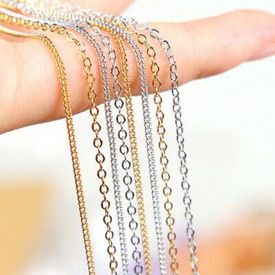 1Meters Metal Charm Chain Necklace Earrings Jewelry Finding DIY Making HV