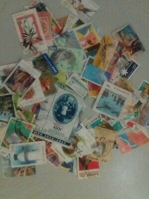 100 GRAMS USED Australia Stamps Off Paper, No Xmas or definitives. 7 scans.