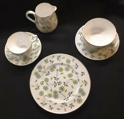 CROWN STAFFORDSHIRE RICHMOND PARK 6 pc CUP SAUCER, SALAD, BREAD CREAM & SUGAR !!