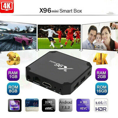X96 Mini Android 7.1 4K WIFI 8G 16G S905W Smart TV BOX Backlight Keyboard Lot