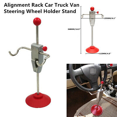 14.5'' Car Alignment Rack Truck Vehicle Steering Wheel Holder Stand Tool System