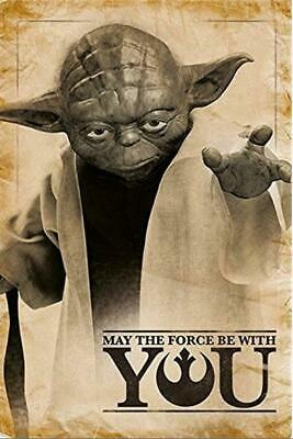 May The Force Be With You Star Wars yoda Art Silk Poster 8x12inch