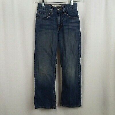 Levis boys 569 jeans Size 10 slim 23x25 Med blue wash denim Loose Straight leg