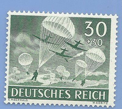 Nazi Germany Third Reich 1943 Para Troopers Jumping 30+30 Stamp MNH WW2 ERA