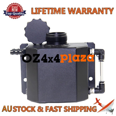 Universal 1L Coolant Radiator Overflow Recovery Water Tank/Can Blk Aluminum