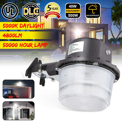 40W Outdoor LED Barn Yard Street Light Dusk To Dawn Wall Mount Security Lamp !