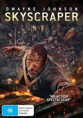Skyscraper with Digital Download DVD Region 4 Excellent condition watched once