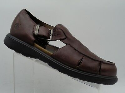6b2c95dd4cb2 Timberland Brown Leather Fisherman Sandals Casual Loafer Shoes Men s Size  ...