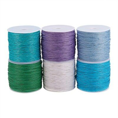 5m Waxed Cotton Beading Cord Thread Jewelry Making String 1mm dia(YC131)