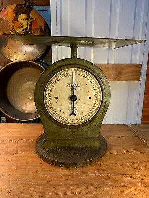 Antique English Cast Iron Salter 56lb No 55 Post Office Industrial Parcel Scale