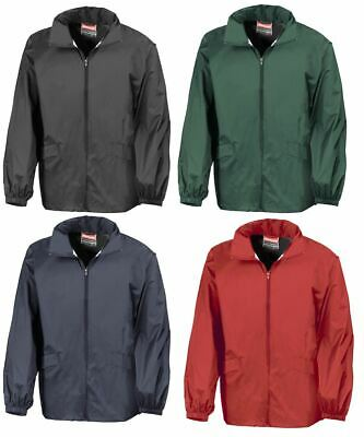 Mens Result Lightweight Windcheater Water Resistant Jacket with Hood