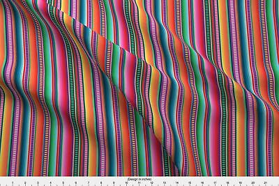 Mexican Mexican Blanket Fiesta Fabric Printed By Spoonflower BTY