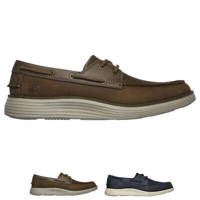 5f545e931fbc Mens Skechers Status 2.0 Former Oiled Leather Memory Foam Moccasin Shoes UK  7-13