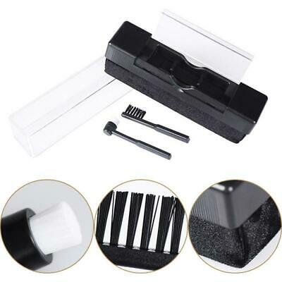 New 2in1 Anti Static Vinyl Record Cleaning Kit Velvet Cleaner Stylus Brush AU