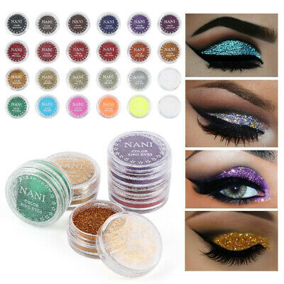 Shining Glitter Powder For Eye Shadow Cosmetics 24 Colors Beauty Shimmer Makeup