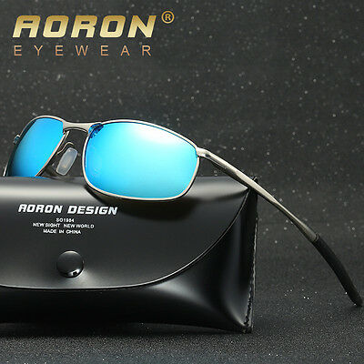 Mens Sport Polarized Mirror Sunglasses Driving Fishing Outdoor Glasses Eyewear