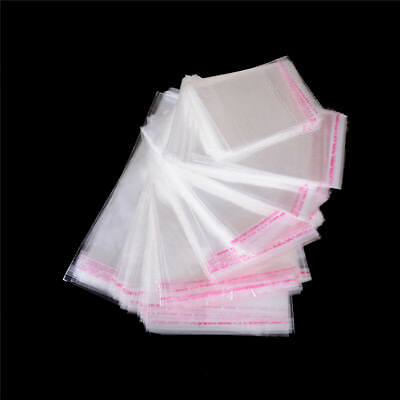 100Pcs/Bag OPP Clear Seal Self Adhesive Plastic Jewelry Home Packing Bags WR