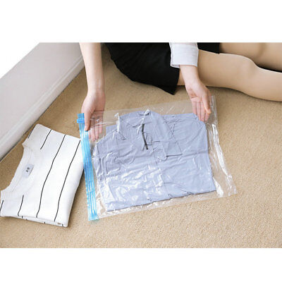 Waterproof Clothes Storage Bag Hand Rolling Plastic Vacuum Packing Space Luggage
